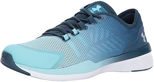Under Armour Women's Charged Push Sneaker, Bayou Blue (953)/Blue Infinity, 5