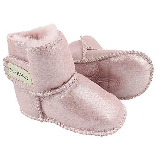 EN FANT Enfant Mädchen Baby- und Kinder Krabbelschuhe, Metalic Rose, Grosse 6-12 Monate, Sheepskin Bootie,811840-65