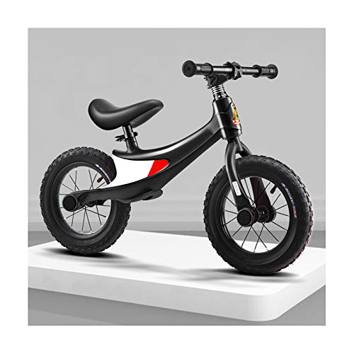 GXM-FSTOOL Children's Balance Bike,Magnesium Alloy Frame, 12 Inch Inflatable Wheels No Pedal Toddler Bike Adjustable Seat, Lightweight Sports Training Bicycle for Kids 2 To 10 Years Old,D