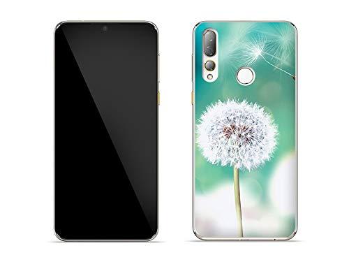 etuo Hülle für HTC Desire 19 Plus - Hülle Foto Hülle - Pusteblume Handyhülle Schutzhülle Etui Hülle Cover Tasche für Handy