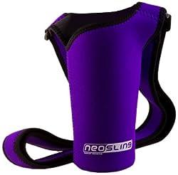 small NEOSLING, neoprene adjustable bottle holder, purple