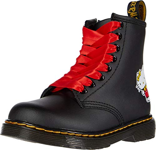 Dr. Martens Kid's Collection Baby Girl's 1460 Hello Kitty (Toddler) Black 8 UK (US 9 Toddler)