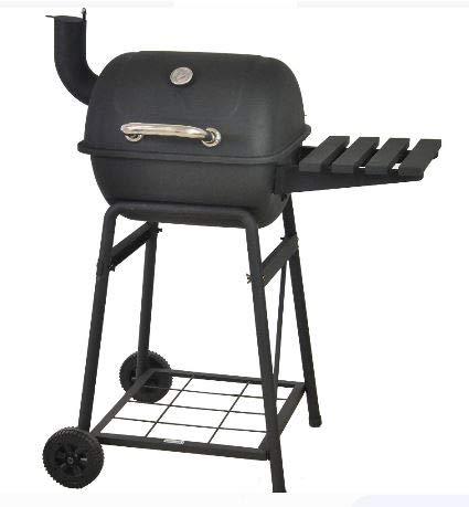 "RevoAce 26"" Mini Barrel Charcoal Grill with Side Shelf, Black"