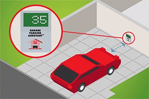 LogicXYZ Garage Parking Assistant with Memory - Park Your Vehicle Precisely and consistently. Large Digital Display to Show and Remember The Distance from The Wall.