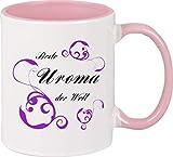 Shirtinstyle Kaffeetasse, Beste Uroma der Welt Danke, DASS es Dich gibt! Kaffeepott, Tasse. Farbe rosa