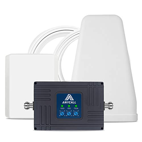 Cell Phone Signal Booster for Home and Office - AT&T, Verizon,T-Mobile - Triple Band 2/5/12/17...