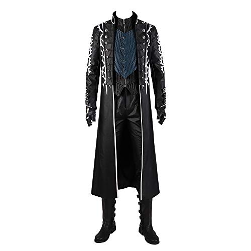 Cosonsen Devil May Cry 5 Dark Slayer Virgil Disfraz de Lujo para Halloween, Dmc5 Vergil, Hombre-Small