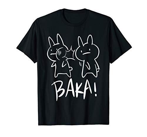 Lustiges Japan Baka Rabbit Ohrfeigen Anime und Manga Tshirt