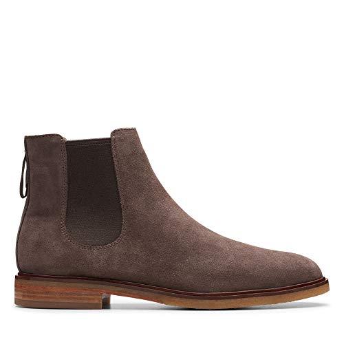 Clarks Herren Clarkdale Gobi Chelsea Boots, Grau (Taupe Suede Taupe Suede), 39.5 EU