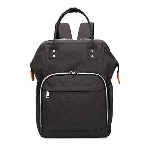 Große Babywindel-Taschen-Rucksack, langlebiger Rucksack mit Kinderwagengurten, Multifunktionsreisetaschen, Geeignet für Shopping, Reisen (Farbe : SCHWARZ)