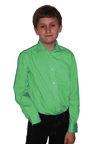 Helgas Modewelt Jungs Hemd zum Kommunionanzug, Oberhemd aus Baumwolle, Minze, Größe 140
