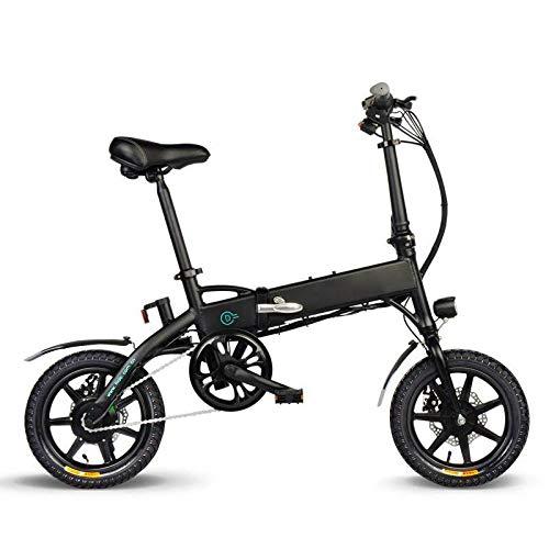 Bicicleta eléctrica plegable con soporte para...