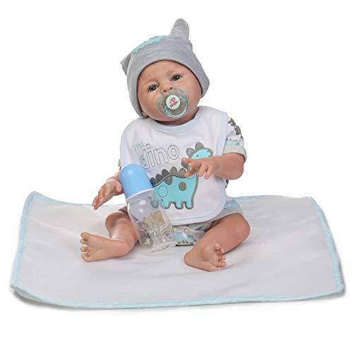 iCradle Reborn Baby Dolls 20 Pulgadas 50cm Muñecas Reborn Cuerpo Entero Silicona Realista Suave de Vinilo Lifelike Chica and Chico Bebé Reborn Niña Nacido Regalo de Juguete (Boy)