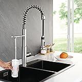 CREA 3 vías Grifo Cocina Extraible, Grifo de Agua Potable con Muelle en Espiral con...