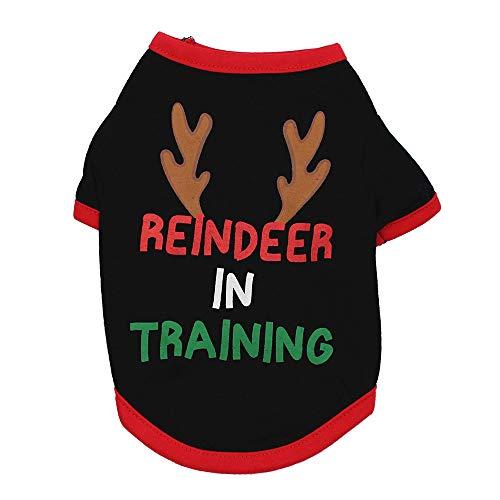 VENMO Weihnachten Hundebekleidung Polyester T Shirt Puppy Kostüm Hündchen Hund Kleidung Weiches Pullover Kostüm Hundemantel Haustier Hoodie Hundemantel warme Sweatshirts Puppy Coat