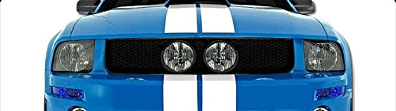 R&L Racing 05-09 Ford Mustang Gt Black Mesh Front Hood Bumper Grill Grille/Fog Lights Hole
