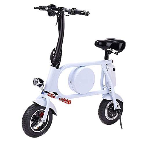 WXDP Patineta Cruiser Pro,Bicicleta eléctrica portátil, Bicicleta eléctrica Inteligente Scooter con luz LED Un botón Pedal de Viaje Remoto Batería pequeña Coche Ciclomotor adul