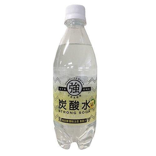 友桝飲料 強炭酸水 レモン ペット 500ml