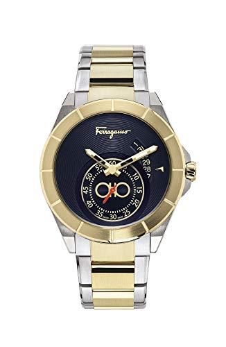 Salvatore Ferragamo Men's Ferragamo Urban Yellow Gold Swiss Quartz Watch with Stainless Steel Strap, Two Tone, 22 (Model: SF1Y00519)