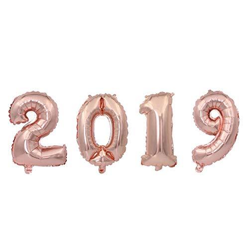 Zyyini Balloon, 16 in Happy 2019, aantal bladeren, ballonnen, Nieuwjaar, festival, decoratie voor feestjes #3