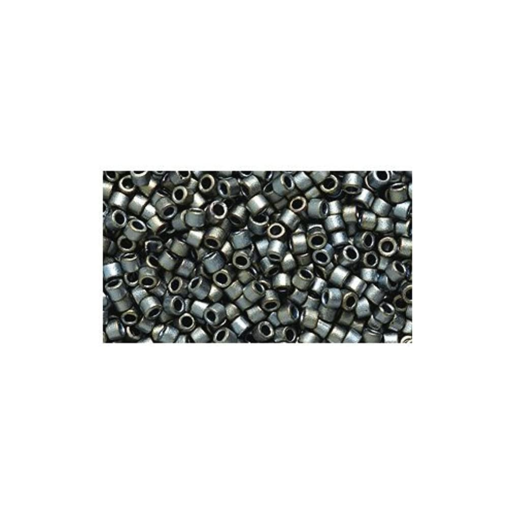 Miyuki Delica Seed Bead 11/0 DB307, Silver Gray Matte, 9-Gram/Pack