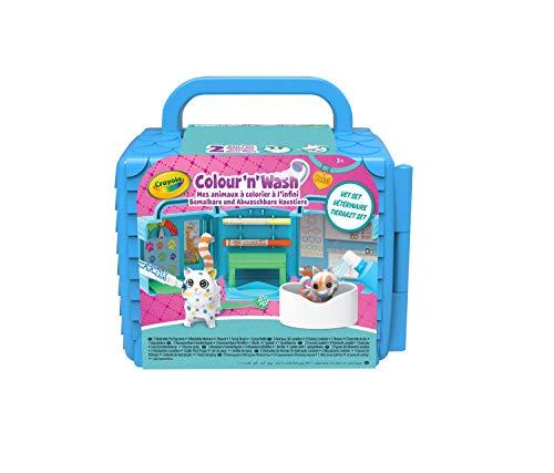 Crayola - Washimals - Mes Animaux à Colorier - Vétérinaire - Loisir créatif - washimals - Color N wash - à partir de 3 ans - Jeu de coloriage et dessin