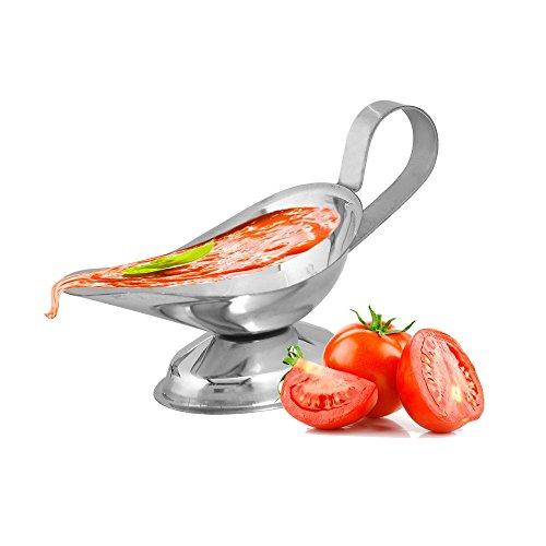 Kosma saucière en acier inoxydable | serveur | Serveur Condiment Sauce Sauce Dish 3 oz |