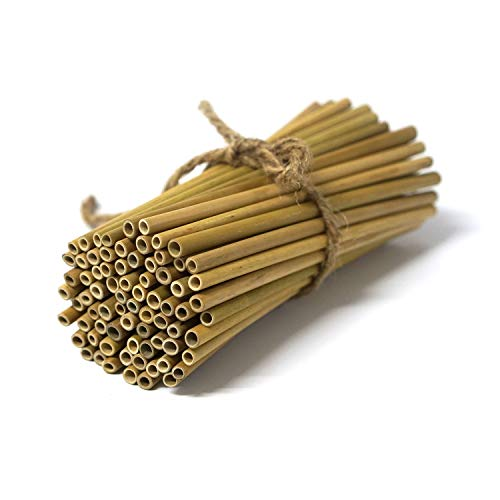 "IA Crafts Bamboo Sticks, Bamboo Straws, Bamboo Stakes Craft Supplies, for Crafts and DIY, Natural Bamboo Color, 5.7"" – 5.9"" Long and 0.15""-0.20"" in Diameter"