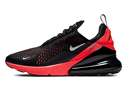 Nike Air Max 270, Scarpe da Corsa Uomo, Black/Reflecting Silver/Bright Crimson, 42.5 EU