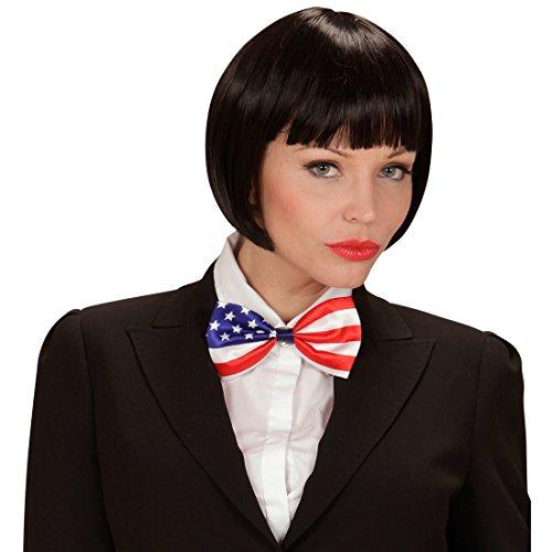Party Schleife Amerika Stars and Strips Binder Herren Fliege Anzug Querbinder Flaggen-Motiv Kostüm Accessoire Herren Smoking Fliege USA