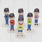 SMSZG 6PCS / lotの漫画おそ松さんさんおそ松さんカラマツ市松PVCアクションはモデル人形のおもちゃをフィギュア