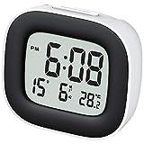 Hommak Reloj Despertador Digital con Luz de Noche, Reloj de Viaje con Pilas, Zumbador Alarma, Reloj Temperatura Fecha, Función Snooze, 12/24 Horas, Fácil de Llevar, para Dormitorio Oficina Viaje