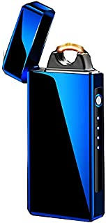 Big Flame Lighter Milestone in Electric Lighter USB Rechargeable Windproof Super Powerful (Colorful)