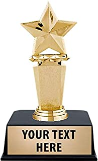 "Sponsored Ad - Crown Awards Star Trophies with Custom Engraving, 6"" Personalized Gold Megastar Employee Recognition Trophy..."