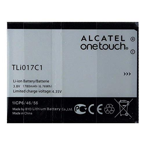 GSParts Alcatel OneTouch Replacement 1780mAh Battery - TLi017C1 (Bulk Packaging)