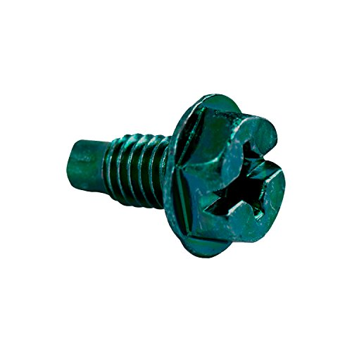 Gardner Bender GGS-1032HCN Hex-Head Ground Screw, 10-32 x ½ inch, 100 Pk, Green