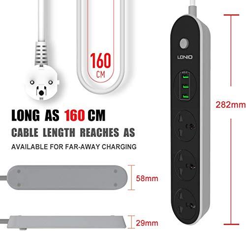 Hoteon LDNIO 2500W Multi Plug with USB Slots