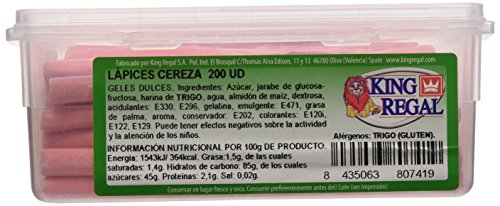 King Regal Lápices Cereza - estuche 200 unidades