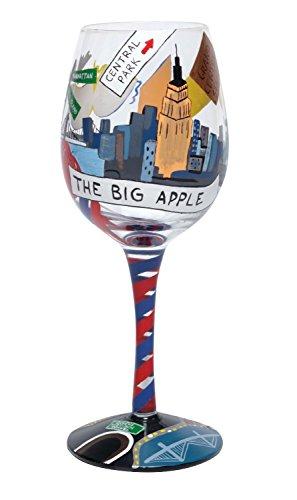 "Hand Painted Lolita Wine Glass ""New York"" ~ Ultimate Big Apple Gift Idea!"