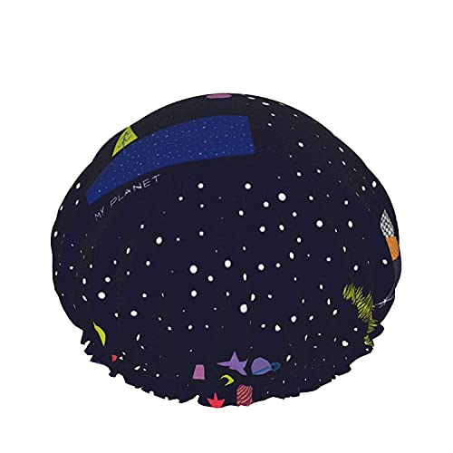 Double Layers Shower Cap,Underwater Seascape Background Colorful Corals,Reusable Waterproof Elastic Bath Caps for All Hair Lengths-style05-1pcs