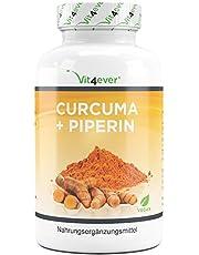 Curcuma - 360 capsules - 4560 mg (kurkuma + zwarte peper) per dag - met Curcumin & Piperin - Indiaas & laboratorium getest kurkumapoeder - hoge dosis - veganistisch
