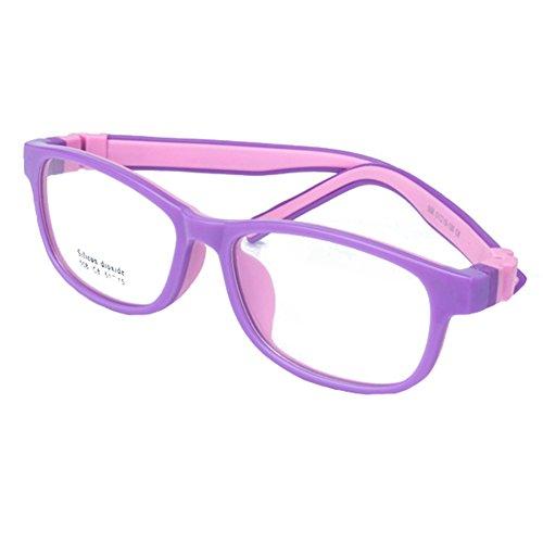 Juleya Juleya Kinder Gläser Rahmen - Silikon - Kinder Brillen Clear Lens Retro Reading Eyewear für Mädchen Jungen
