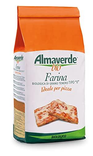 Almaverde Bio Farina di grano tenero Tipo '0' per Pizza Biologica. 5 Confezioni da 1 kg.