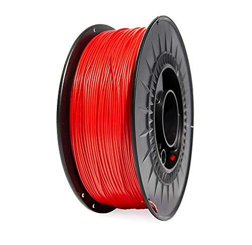 Winkle Filamento Pla HD | Pla 1.75mm | Filamento Impresión | Impresora 3D | Filamento 3D | Color Rojo Diablo | Bobina 300gr