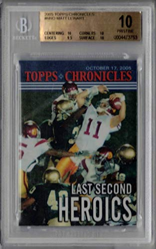 Reggie Bush Matt Leinart 2005 Topps Chronicles USC Rookie Card BGS 10 Pristine