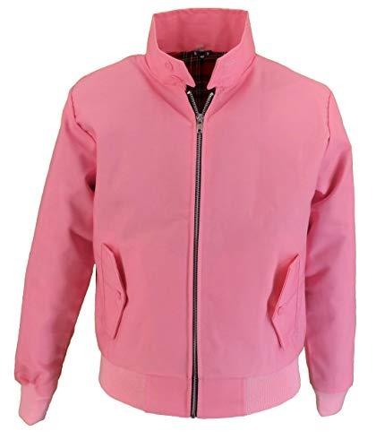 mazeys Ladies Classic Harrington Jackets (10, Pink)