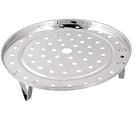 Steamer Rack Stainless Steel Kitchen Round Food Tray Stand CL Steaming V6N1