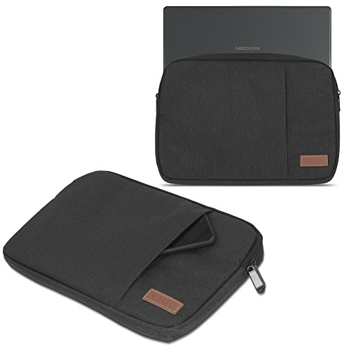 UC-Express Medion Akoya E1239T Hülle Tasche Notebook Schutzhülle Schwarz/Grau Cover Case, Farbe:Schwarz