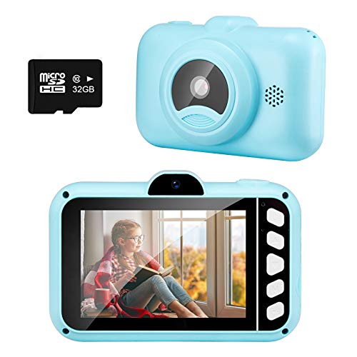 SUZIYO Kids Gifts for Boys Girls, Children Camera 1080P 3.5inch HD Digital Video Camcorder with Mp3 for Birthday Christmas, Best Perschool Toys for Toddlers (with 32G SD Card,Blue)
