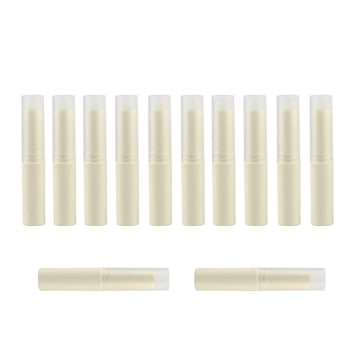 干渉する少ないスタックリップ クリーム チューブ 口紅容器 4g 12本セット 手作り リップ 容器
